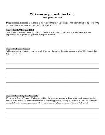 Write an Argumentative Essay