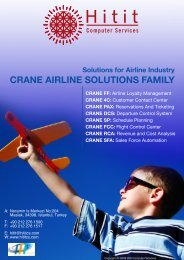 CRANE AIRLINE SOLUTIONS FAMILY - Airline Information