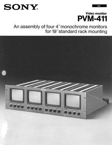 Video monitor PVM-411 - BroadcastStore.com