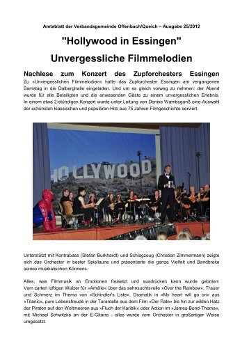 Hollywood in Essingen - Zupforchester Essingen e.V.