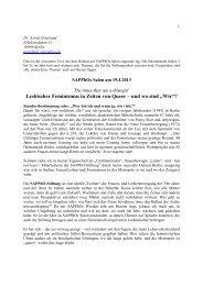 Referat Lesbischer Feminismus - SAPPhO-Stiftung