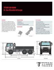 tItaN XD 6600 8- ton standard Cargo - Titan Trucks