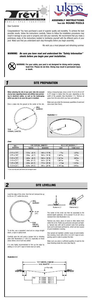 Download Trevi 209 Oval Installation Instructions Uk
