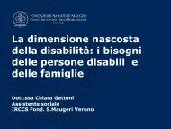 La dimensione nascosta della disabilità - fondazione un passo ...