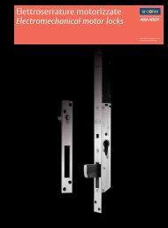 Elettroserrature motorizzate Electromechanical ... - ASSA ABLOY