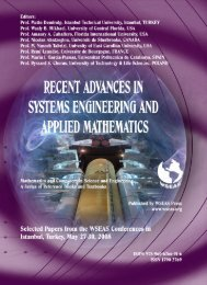 APPLIED MATHEMATICS for SCIENCE and ENGINEERING - WSEAS