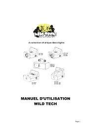 MANUEL D'UTILISATION WILD TECH - Expelec
