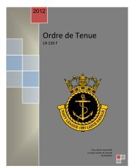 Ordre de Tenue - The Navy League of Canada