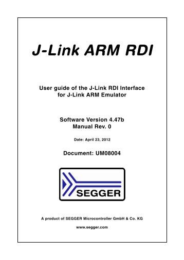 J-Link RDI User Guide - SEGGER Microcontroller