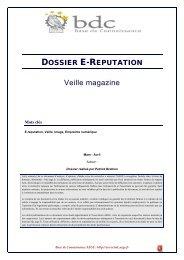 Dossier E-Réputation - Base de connaissance AEGE