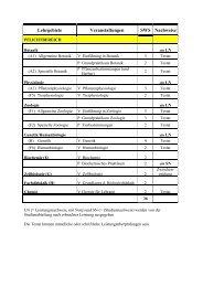 Lehrgebiete Veranstaltungen SWS Nachweise - Fachbereich ...