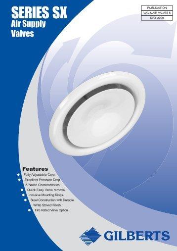 Series SX Air Supply Valves - Keane Environmental & Kabus-Eco Door Air-Curtain - Keane Environmental