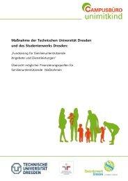 Maßnahme der Technischen Universität Dresden und des ...