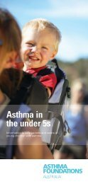 Asthma in the under 5s - Asthma Foundation of Western Australia