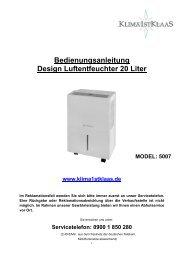 Bedienungsanleitung 5007 - Klaas Direktimport GmbH