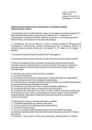 Lisa nr 1-1.4/12/15-2 KINNITATUD juhatuse 16. juuli 2012. a ...