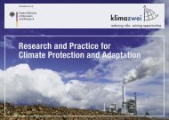 Research and Practice for Climate Protection and ... - klimazwei