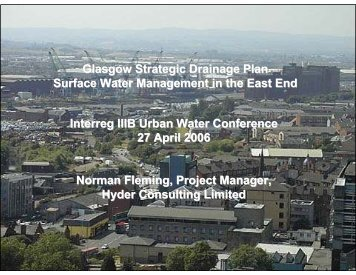 Glasgow Strategic Drainage Plan Surface Water ... - Urban Water
