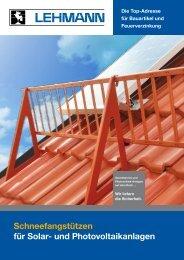 Schneefangstützen für Solar- und Photovoltaikanlagen