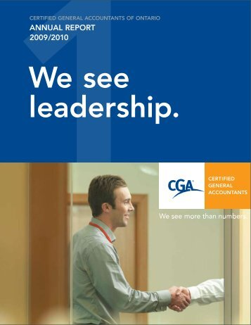 2009-10 Annual Report - Certified General Accountants of Ontario