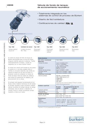 Serie 240 v lvula de accionamiento neum tico tipo 3248 for Accionamiento neumatico