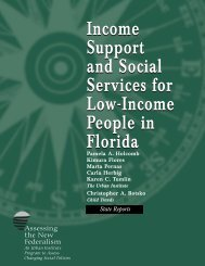 Income Support and Social Services for Low ... - Urban Institute