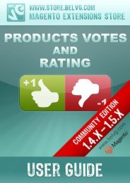 Products Votes and Rating - BelVG Magento Extensions Store