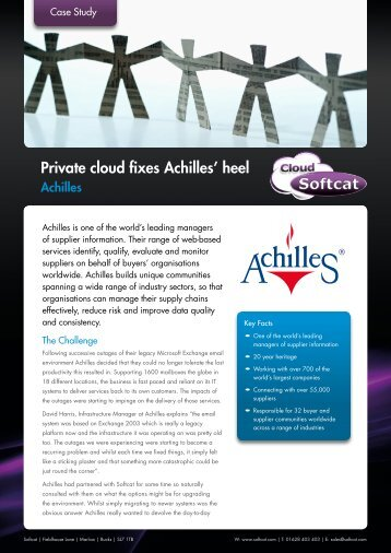 Private cloud fixes Achilles' heel - Softcat