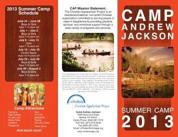 Camp Brochure - Christian Appalachian Project