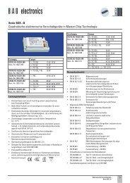 Serie SCS...Q Quadratische elektronische ... - BAG electronics