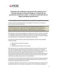 Position sur le rôle de la société civile dans les rapports périodiques ...