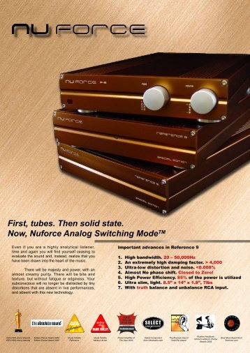 First, tubes. Then solid state. Now, Nuforce ... - Cool Gales Audio