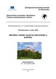 2008 - Fakulta medzinárodných vzťahov - Ekonomická univerzita v ...