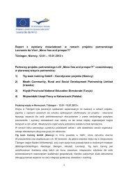 Raport z wymiany doświadczeń w ramach projektu ... - WUP Katowice