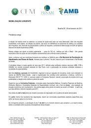 AMB; CFM - Sindicato dos Médicos do Estado de Santa Catarina