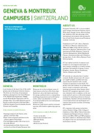 geneva & montreux campuses| switzerland - European University
