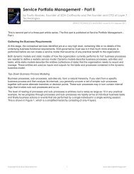 Service Portfolio Management - Part II - Service Technology Magazine