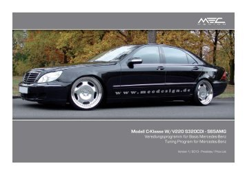 W220 Pricelist International Front.indd - MEC DESIGN