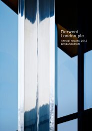 Annual Results 2012 announcement - Derwent London