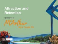 Attraction and Retention - Local Government Managers Australia