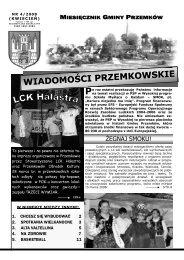 Wiadomości Przemkowskie numer 4/2008 - Przemków