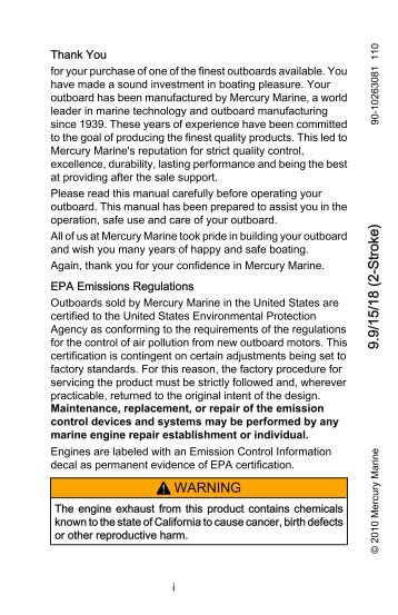 Choosing mercury outboard user manuals download online factory service repair manual pdf array welcome aboard declaration of conformity mercury rh yumpu com fandeluxe Image collections