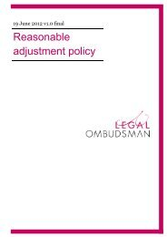 Reasonable adjustment policy - Legal Ombudsman