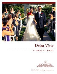 wedding packages and pricing - Wedgewood Wedding