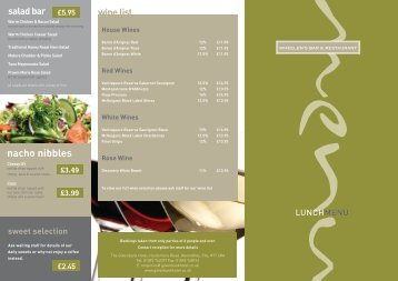Lunch Menu - The Gilvenbank Hotel