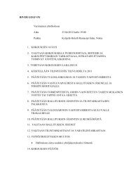 Katso kokouksen esityslista, River Golf Oy yhtiöjärjestys sekä ...