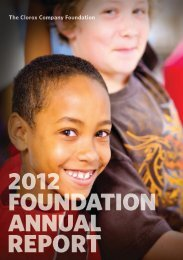 Complete 2012 Foundation Annual Report - The Clorox Company