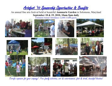 Sponsorship Opportunities & Benefits for Artsfest ... - Annmarie Garden