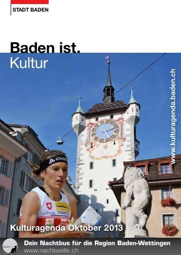 Kulturagenda Oktober 2013 - Veranstaltungen - Stadt Baden