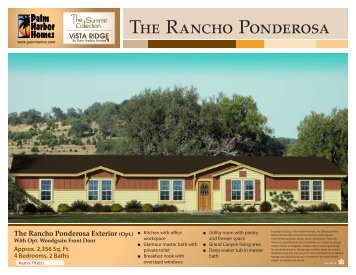 The Rancho Ponderosa - Palm Harbor Homes